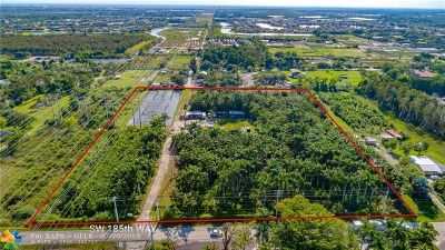 Southwest Ranches Residential Lots & Land For Sale: 6621 SW 185th Way