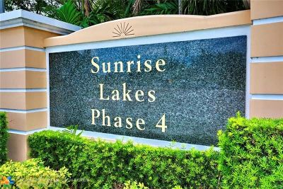 Sunrise Condo/Townhouse For Sale