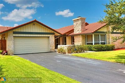 Coral Springs Single Family Home For Sale: 10968 NW 3rd Ct