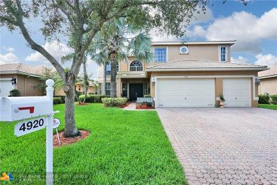 Coral Springs Single Family Home For Sale: 4920 NW 115th Way