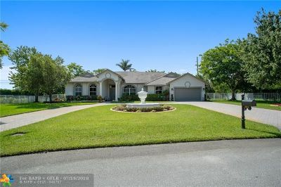 Davie Single Family Home For Sale: 1900 SW 131st Ter