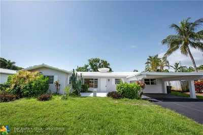 Oakland Park Single Family Home For Sale: 1730 NE 40th Ct