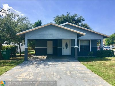 Fort Lauderdale FL Single Family Home For Sale: $229,900
