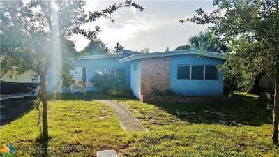 Fort Lauderdale FL Single Family Home For Sale: $300,000