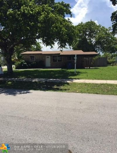 Oakland Park Single Family Home For Sale: 4271 NW 10th Ter