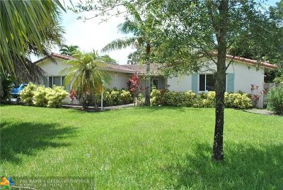 Coral Springs Single Family Home For Sale: 8304 NW 38th St
