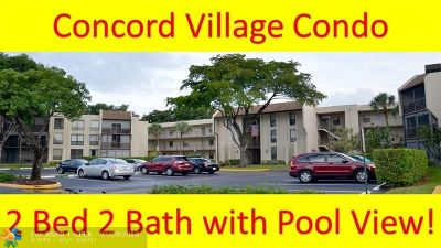 Tamarac Condo/Townhouse For Sale: 8050 W McNab Rd #204