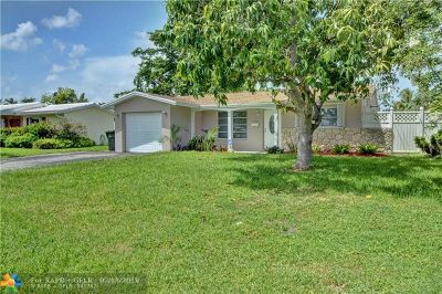 Oakland Park Single Family Home For Sale: 1851 NW 36th St