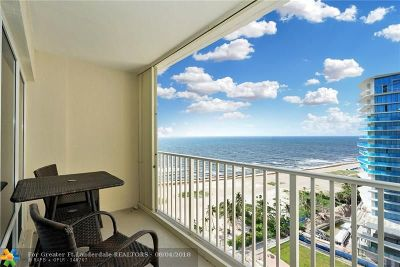 Pompano Beach Condo/Townhouse For Sale: 750 N Ocean Blvd #1605