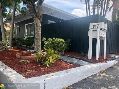 Fort Lauderdale Rental For Rent: 817 NE 19 #3
