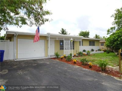 Pompano Beach Single Family Home For Sale: 1720 N Cypress Rd