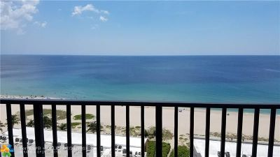 Pompano Beach Condo/Townhouse For Sale: 531 N Ocean Blvd #1711