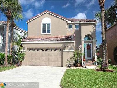 Coral Springs FL Single Family Home For Sale: $350,000
