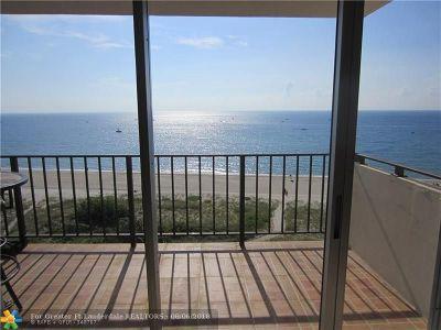Pompano Beach Condo/Townhouse Backup Contract-Call LA: 1900 S Ocean Blvd #8E