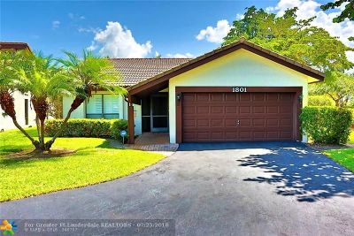 Coral Springs Single Family Home For Sale: 1801 Riverwood Ln