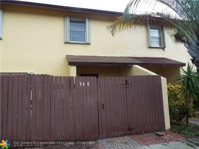 Deerfield Beach Condo/Townhouse For Sale: 348 NW 46th St #348