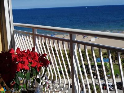 Pompano Beach Condo/Townhouse For Sale: 328 N Ocean Bl #907