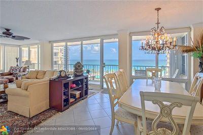 Fort Lauderdale Condo/Townhouse For Sale: 4280 Galt Ocean Dr #6F