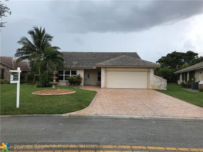 Coral Springs Single Family Home For Sale: 10596 NW 2nd Pl