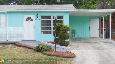 Pompano Beach Single Family Home For Sale: 242 NE 39th Ct