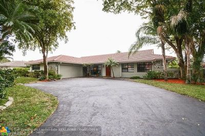 Coral Springs Single Family Home For Sale: 11288 NW 11th Ct