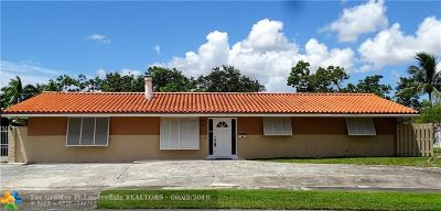 Plantation Single Family Home For Sale: 6021 SW 15th St