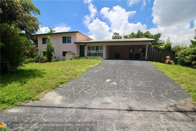 Oakland Park Single Family Home For Sale: 1560 NE 43rd St