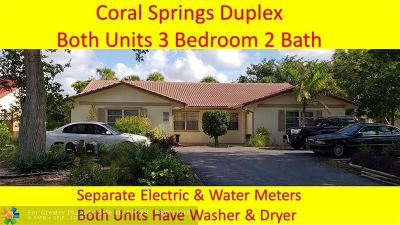 Coral Springs Multi Family Home Backup Contract-Call LA: 8526 NW 23rd Mnr