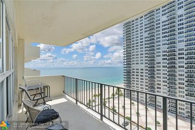 Fort Lauderdale Condo/Townhouse For Sale: 3550 Galt Ocean Dr #1405