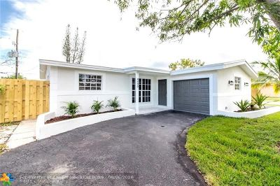 Sunrise Single Family Home For Sale: 8490 NW 28th St