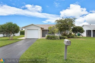 Tamarac Single Family Home For Sale: 9505 NW 80th St