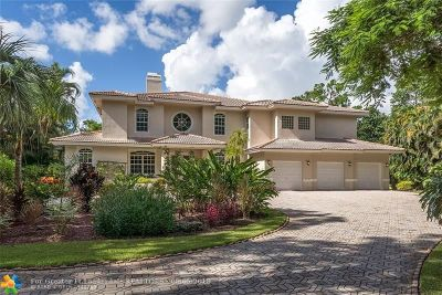 Coral Springs FL Single Family Home For Sale: $825,000