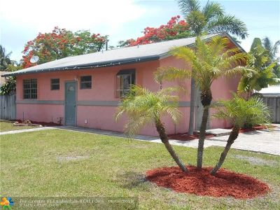 Wilton Manors Single Family Home For Sale: 609 NE 27th St