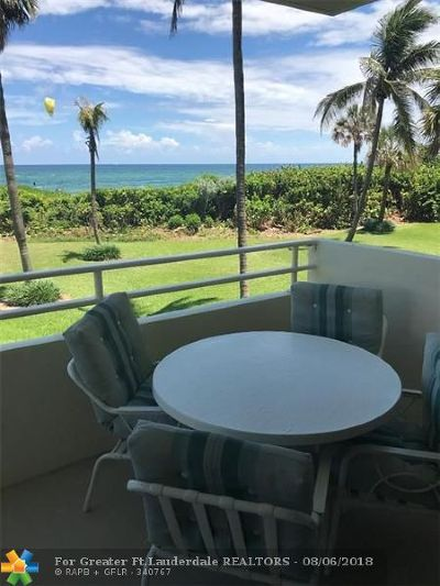 Pompano Beach Condo/Townhouse For Sale: 1610 N Ocean Blvd #101