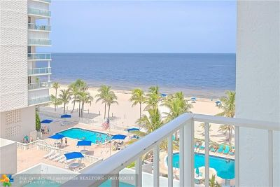 Pompano Beach Condo/Townhouse For Sale: 1010 S Ocean Blvd #715