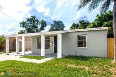 Oakland Park Single Family Home For Sale: 161 NE 51st Street