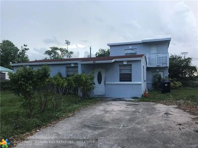 Fort Lauderdale FL Single Family Home For Sale: $150,000