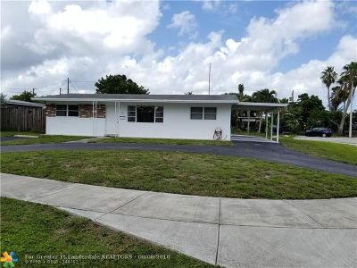 Oakland Park Single Family Home For Sale: 1501 NW 41st St