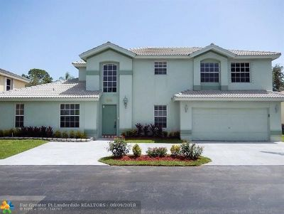 Pompano Beach Single Family Home For Sale: 3522 Sahara Springs Blvd
