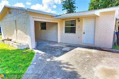 North Lauderdale Single Family Home For Sale: 7707 SW 9th St