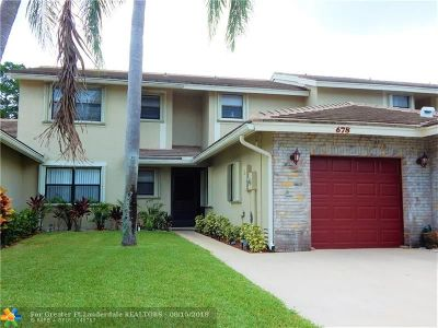 Deerfield Beach Condo/Townhouse Backup Contract-Call LA: 678 N Shore Dr #678