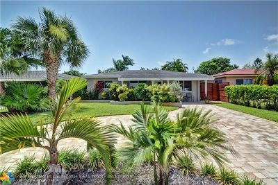 Oakland Park Single Family Home For Sale: 250 NE 43rd Court