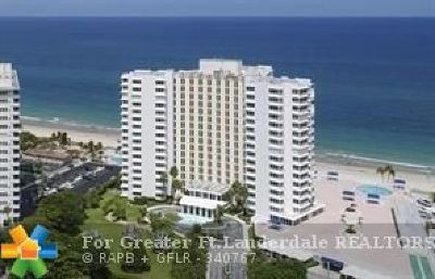 Lauderdale By The Sea Condo/Townhouse For Sale: 3900 N Ocean Dr #4C