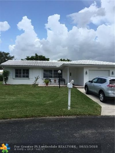 Plantation Single Family Home For Sale: 8921 NW 12th Pl
