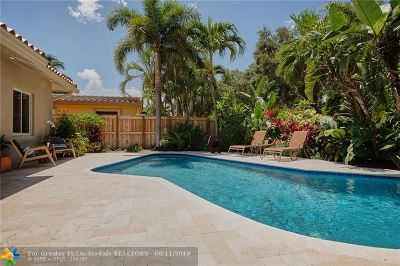 Fort Lauderdale Single Family Home For Sale: 1706 NE 19th St