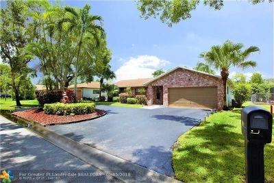 Coral Springs Single Family Home For Sale: 10911 NW 21st St