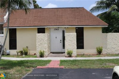 North Lauderdale Condo/Townhouse For Sale: 1343 Seaview