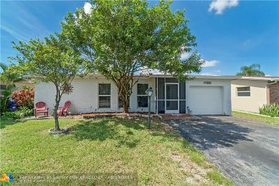 Pompano Beach Single Family Home For Sale: 1160 NW 49 Ct