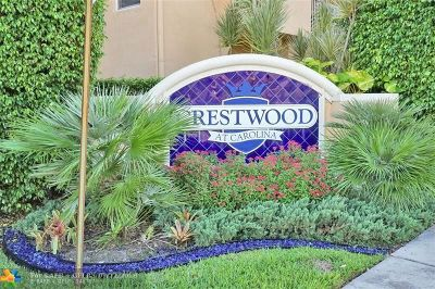 Margate Condo/Townhouse For Sale: 2954 Crestwood Ter #8104