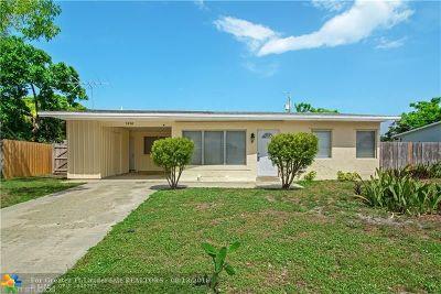 Pompano Beach Single Family Home For Sale: 2810 NE 9th